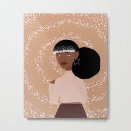 Afro & sparkle Metal Print