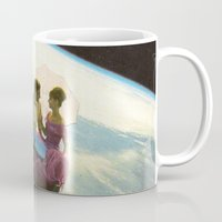 lovers Mugs featuring Lovers by flirst