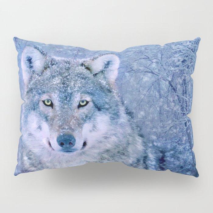 Winter Wolf Pillow Sham