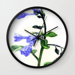 Virginia Bluebells Wall Clock