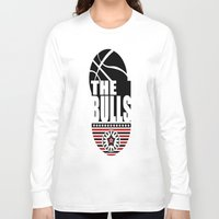 chicago bulls Long Sleeve T-shirts featuring THE BULLS  by Robleedesigns