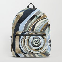 Wood Slice Abstract Backpack