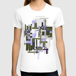 Abstract Seaweed Purple Design T-shirt