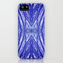 Abstract Long Grass Blue and Purple 717 iPhone Case