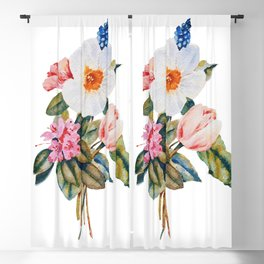 Loose Spring Bouquet Blackout Curtain