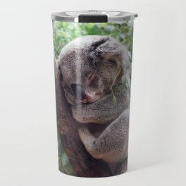 Amazingly Gorgeous Little Koala Bear Resting On Tree Branch Ultra High Resolution Travel Mug