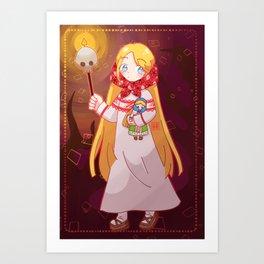 Vasilisa the Forest Princess Art Print