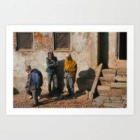 Three Men Art Print