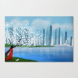 Blossom City Canvas Print