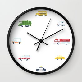 Cars and Trucks Collection Wall Clock