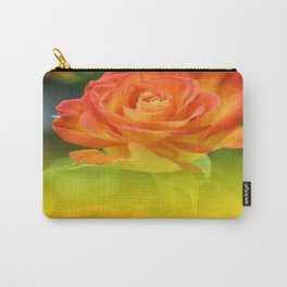 YELLOW ROSES WITH ORANGE TIPS Carry-All Pouch