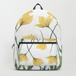 Yellow Woodland Tulips Backpack