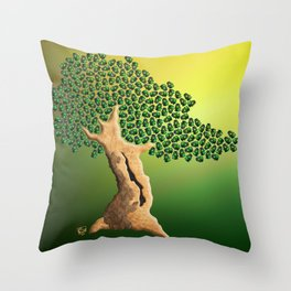 Beetle Bonsai Throw Pillow