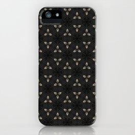 Bones on Black iPhone Case