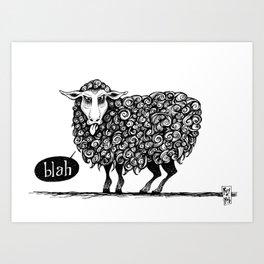 Blah! Art Print