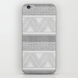 Dutch Wax Tribal Print in Grey iPhone Skin