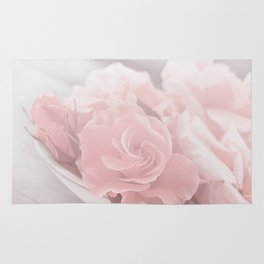 Lovely Rose in soft pink pastel tone Rug