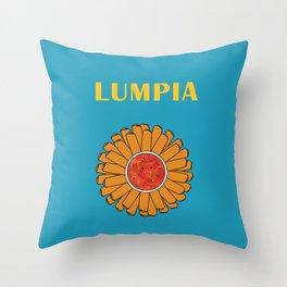 Filipino Kitchen Loteria - Lumpia Throw Pillow