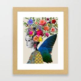 Brigitte flowers Framed Art Print
