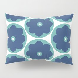 Blue Marguerite Pillow Sham