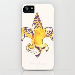 Fleur De Lis LSU Tiger iPhone Case