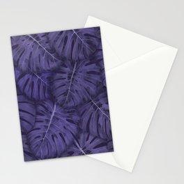 ULTRA VIOLET MONSTERA, by Frank-Joseph Stationery Cards