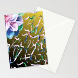 Succulent Ribbon Stationery Cards
