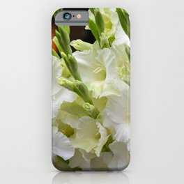Lovely white gladiolas iPhone Case
