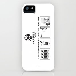 Manga, Dragon Ball, Capsule Corp instruction iPhone Case