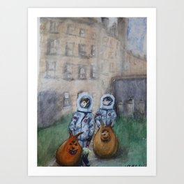 Space Cadets Old Glasgow Art Print