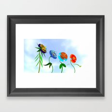 WHAT THE BEES SEE Framed Art Print