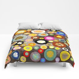The incident - Circles pale vintage cross Comforters