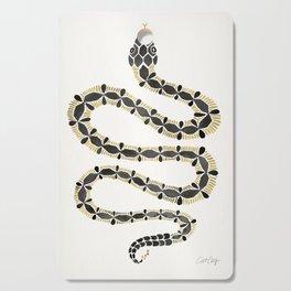 Serpent – Black & Gold Cutting Board
