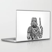 storm trooper Laptop & iPad Skins featuring Storm Trooper  by ATELOPHILIA DESIGNS