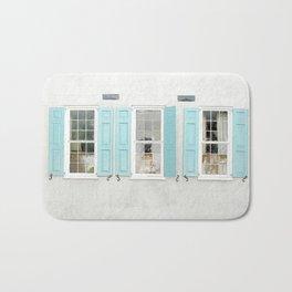 Teal Windows Bath Mat