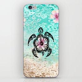 Hibiscus Turtle iPhone Skin