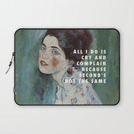 Gustav Klimt, Porträt einer Dame (1916-1917) / Halsey, Is There Somewhere (2014) Laptop Sleeve