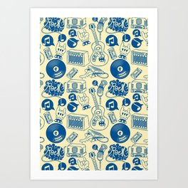 Musical Monsters Art Print