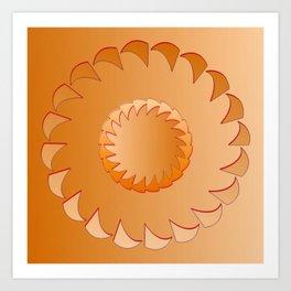 Rounded orange 1 Art Print