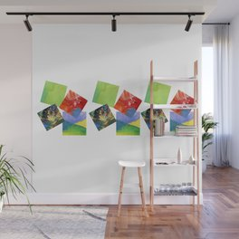 Painted Squares Jiggle Wall Mural
