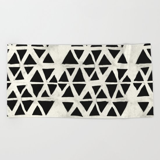 Tribal Geometric Beach Towel
