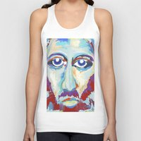 jesus Tank Tops featuring Jesus  by melissa lyons