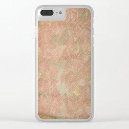 Vintage silk cotton leaves texture decoupage Clear iPhone Case