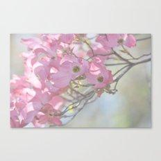 Subtle Pink Floral Canvas Print