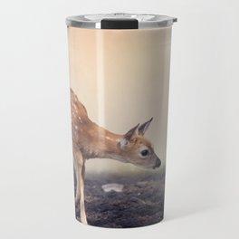 Cute White-tailed deer fawn Travel Mug