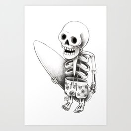 Surfing stone Art Print