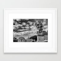 rome Framed Art Prints featuring Rome by unaciertamirada