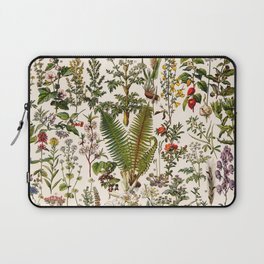 Adolphe Millot - Plantes Medicinales B - French vintage poster Laptop Sleeve