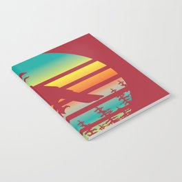 Crow Sunset Symbols Death Today Gift Notebook