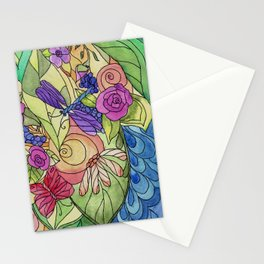 Stained Glass Garden Too Stationery Cards